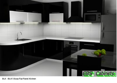 BLK -BLK1 Gloss Flat Panel Kitchen