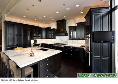 BLK -BLK10 Semi Raised Panel Kitchen