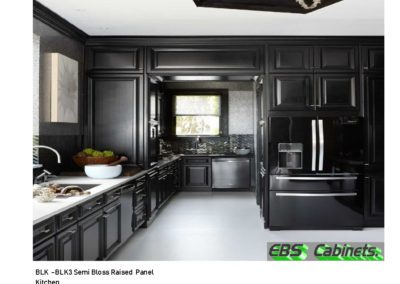 BLK -BLK3 Semi Bloss Raised Panel Kitchen