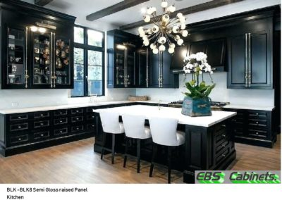 BLK -BLK8 Semi Gloss raised Panel Kitchen