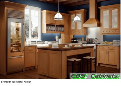 BRWN B1 Tan Shaker Kitchen