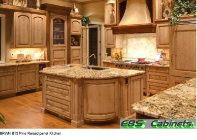 BRWN B13 Pine Raised panel Kitchen