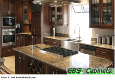 BRWN B2 Dark Raised Panel Kitchen