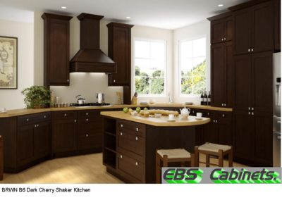 BRWN B6 Dark Cherry Shaker Kitchen