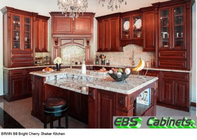 BRWN B8 Bright Cherry Shaker Kitchen