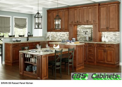 BRWN B9 Raised Panel Kitchen