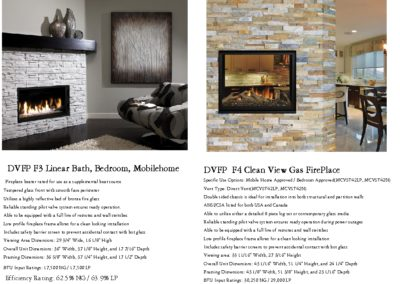 DVFP F3 F4 Gas Fireplace