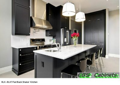 BLK -BLK7 Flat Black Shaker Kitchen
