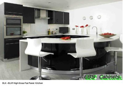 BLK -BLK9 High Gloss Flat Panel Kitchen