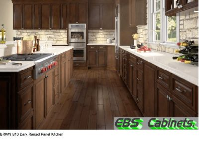 BRWN B10 Dark Raised Panel Kitchen