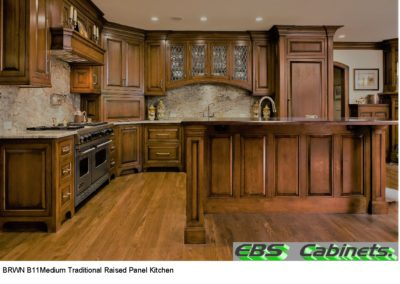 BRWN B11Medium Traditional Raised Panel Kitchen
