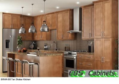 BRWN B5 Tan Shaker Kitchen