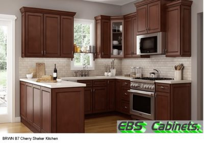 BRWN B7 Cherry Shaker Kitchen