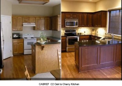 CABREF C2 Oak to Cherry Kitchen