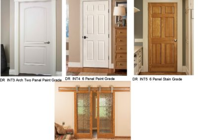 DR INT 3,4,5,6 Interior Doors