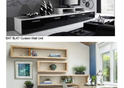 ENT BLK7 Tan8 Custom Wall Unit