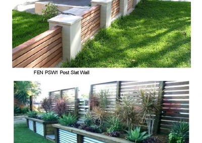 FEN PSW1 Post Slat Wall