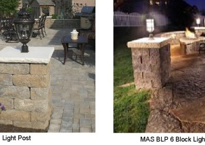 MAS BLP 5, 6 Block Light Post