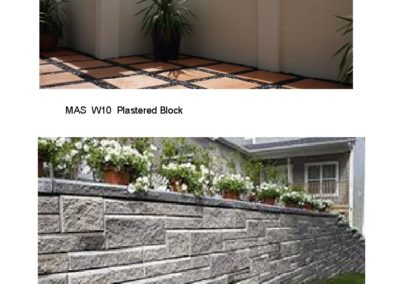 MAS W10, 11 Block Wall