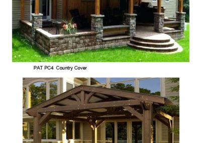 PAT PC4, 5 Wood Patio Cover